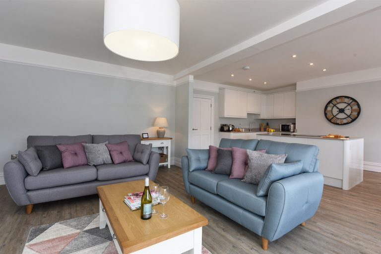 Dartside Holidays The Angel Living Room Kitchen Accommodation Property Dartmouth