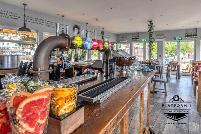 Dartmouth Platform 1 Champagne Bar