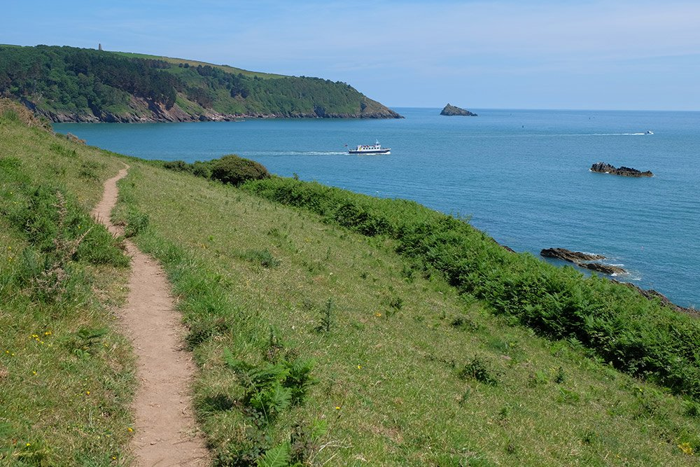 Dart Estuary walk coastal path in south devon