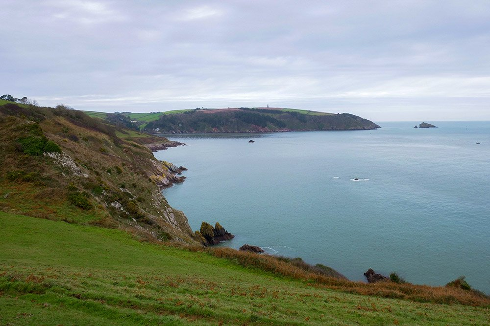 Little Dartmouth coastal path walk in south devon